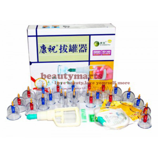 Kang Zhu 24 Cup Chinese Cupping Therapy Set 康祝拔罐器