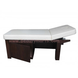 """Wooden Bed with Cabinet - 28"""""""