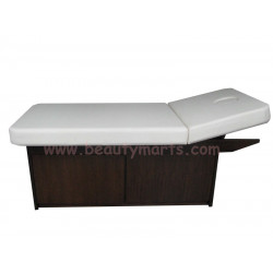 """Wooden Bed with Cabinet (拉门) -  28"""""""