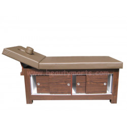 Wooden Massage Bed with Cabinet 30""