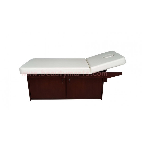 """WOODEN MSG BED W CABINET 30"""""""