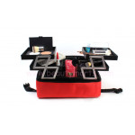 2-Tiers Soft Sided Professional Cosmetic Organizer Makeup Case (WB-18B)