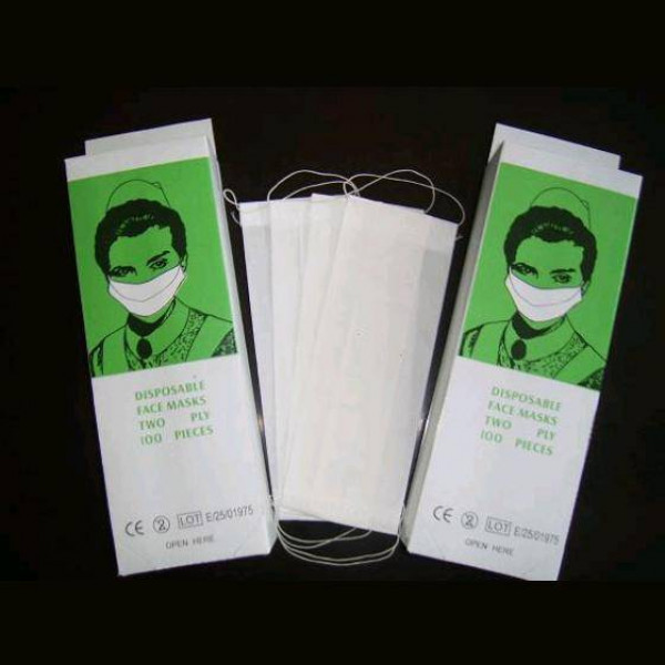 Disposable 2 PLY Paper Face Mask