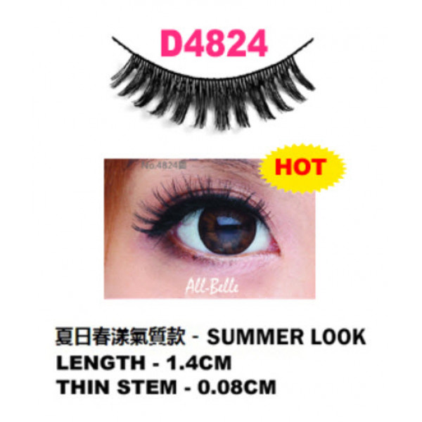 All-Belle Premium Handmade Eyelash D4824 - (10pairs)