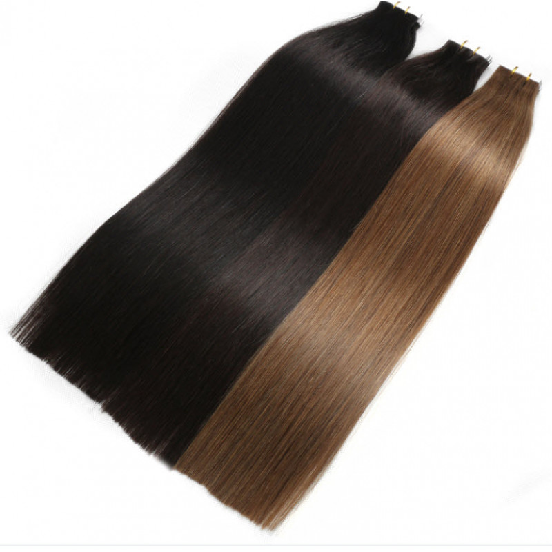 Invisible Tape In Real Hair Extensions