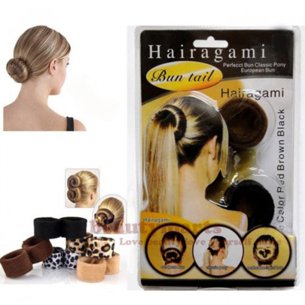 Hair Bun Tail Tool Hairagami Spiral European Classic Pony Styling Pack 2 Color