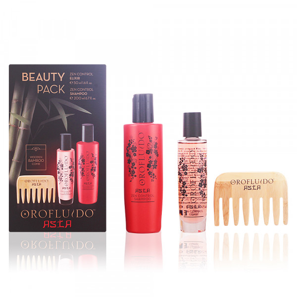 Orofluido Hair Asia Beauty Set (Shampoo + Oil + Wooden Comb)