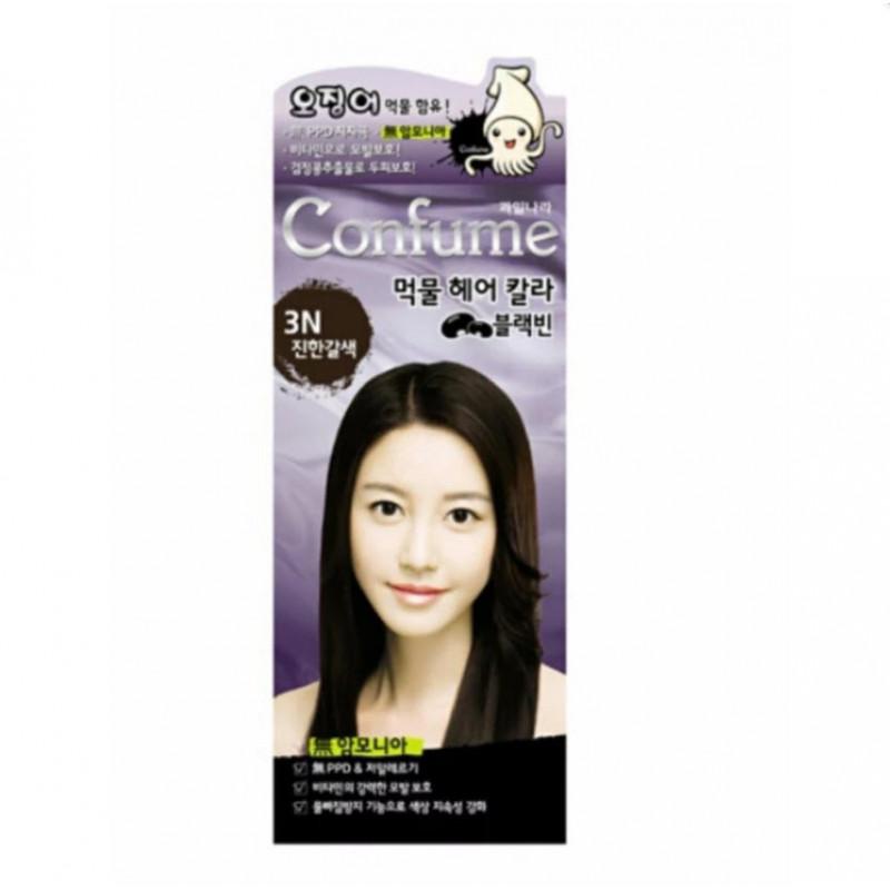 Confume Squid Ink Hair Color Dye 3n Dark Brown No Ammonia