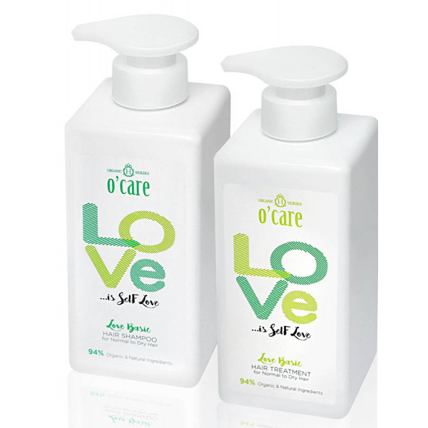 O'CARE Love Basic Hair Shampoo + Treatment  (Ideal for Normal to Dry Hair)
