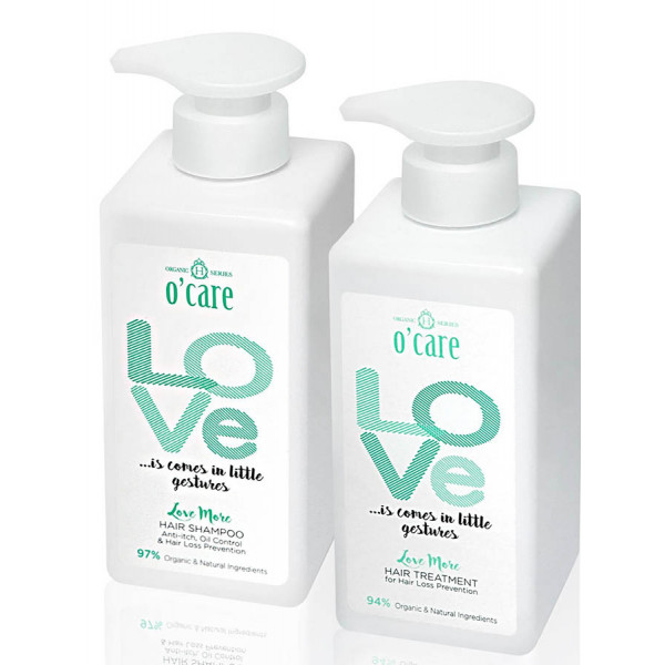O'CARE Love More Hair Shampoo + Treatment ( Anti-itch,Oil Control & Hair loss )