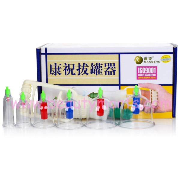 Kang Zhu 12 Cup Chinese Cupping Therapy Set 康祝拔罐器