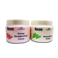 Rene Strong Rebonding and Neutralizer Cream 500ml x 2