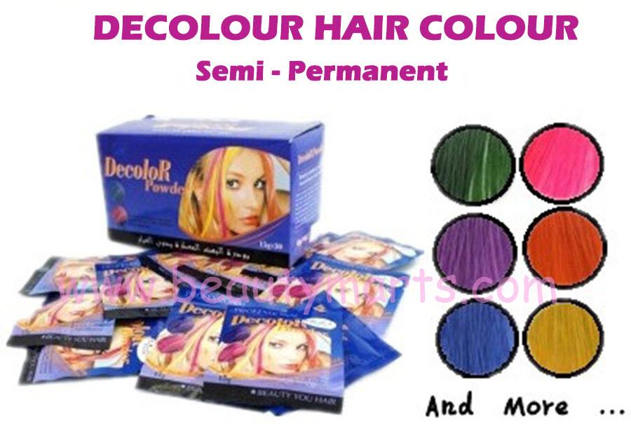 Decolour Dye Powder Semi Permanent Technical 80375